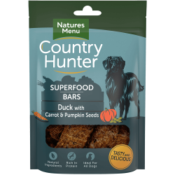 NEW! Country Hunter Superfood Bars Duck with Carrot & Pumpkin Seeds 100g