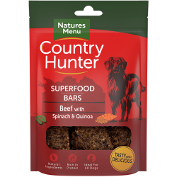 NEW! Country Hunter Superfood Bars Beef with Spinach & Quinoa 100g