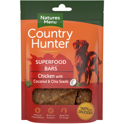 NEW! Country Hunter Superfood Bars Chicken with Coconut & Chia Seeds 100g